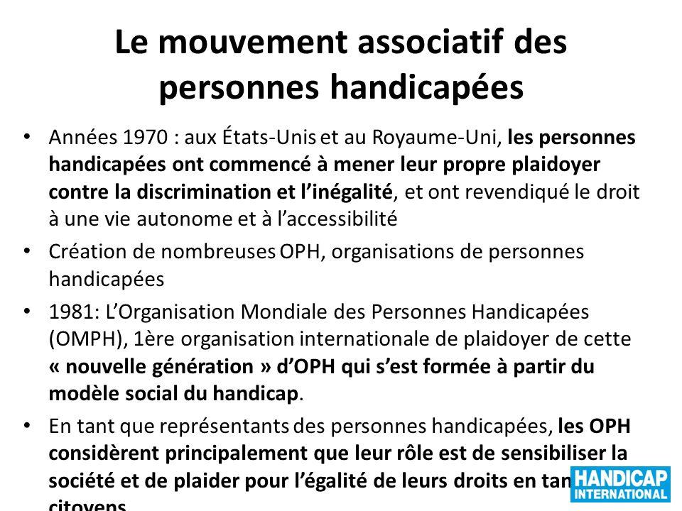 Le mouvement associatif des personnes handicapées