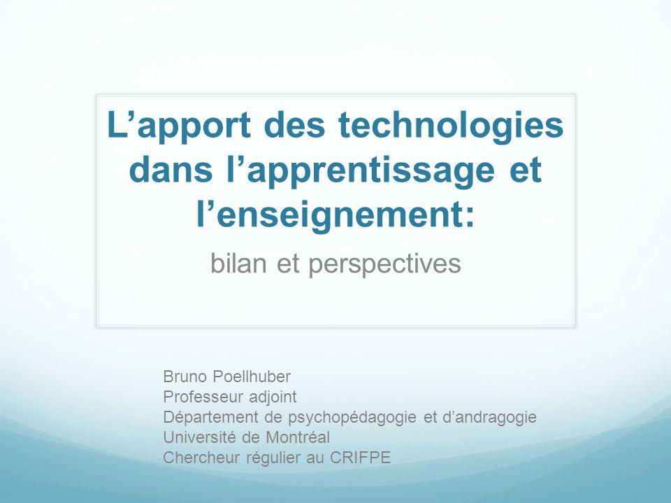 L'apport des technologies dans l'apprentissage et l'enseignement:
