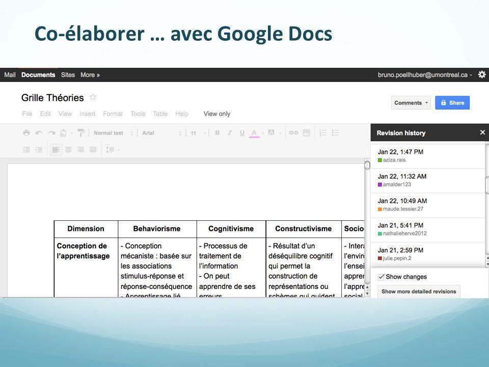Co-élaborer … avec Google Docs