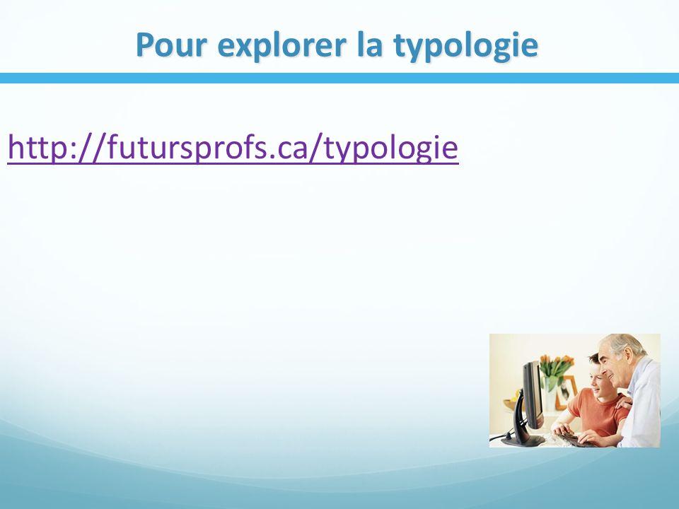 Pour explorer la typologie