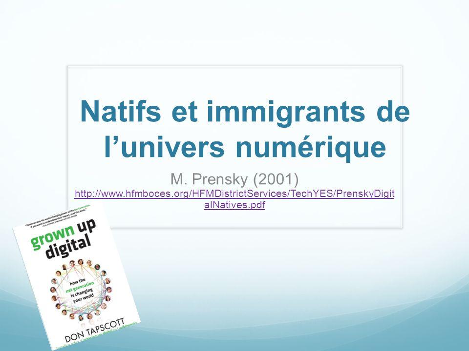 Natifs et immigrants de l'univers numérique