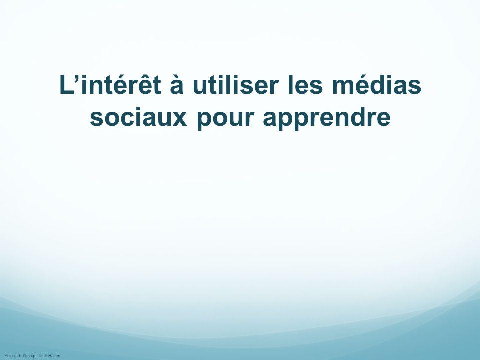 L'intérêt à utiliser les médias sociaux pour apprendre