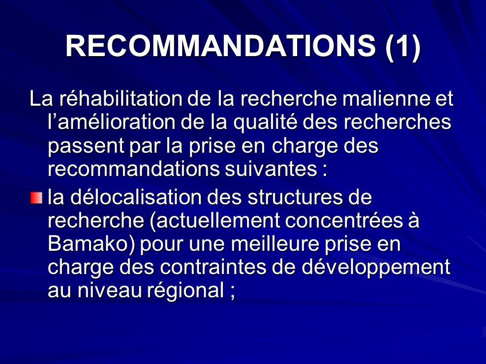 RECOMMANDATIONS (1)