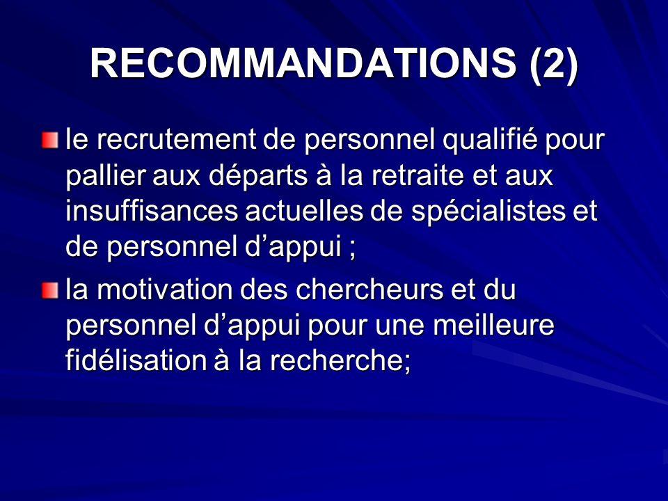 RECOMMANDATIONS (2)