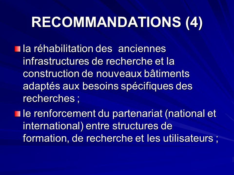 RECOMMANDATIONS (4)