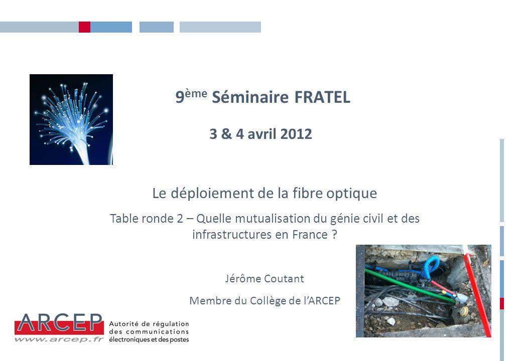 9ème Séminaire FRATEL 3 & 4 avril 2012