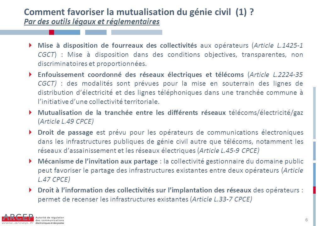 Comment favoriser la mutualisation du génie civil (1)
