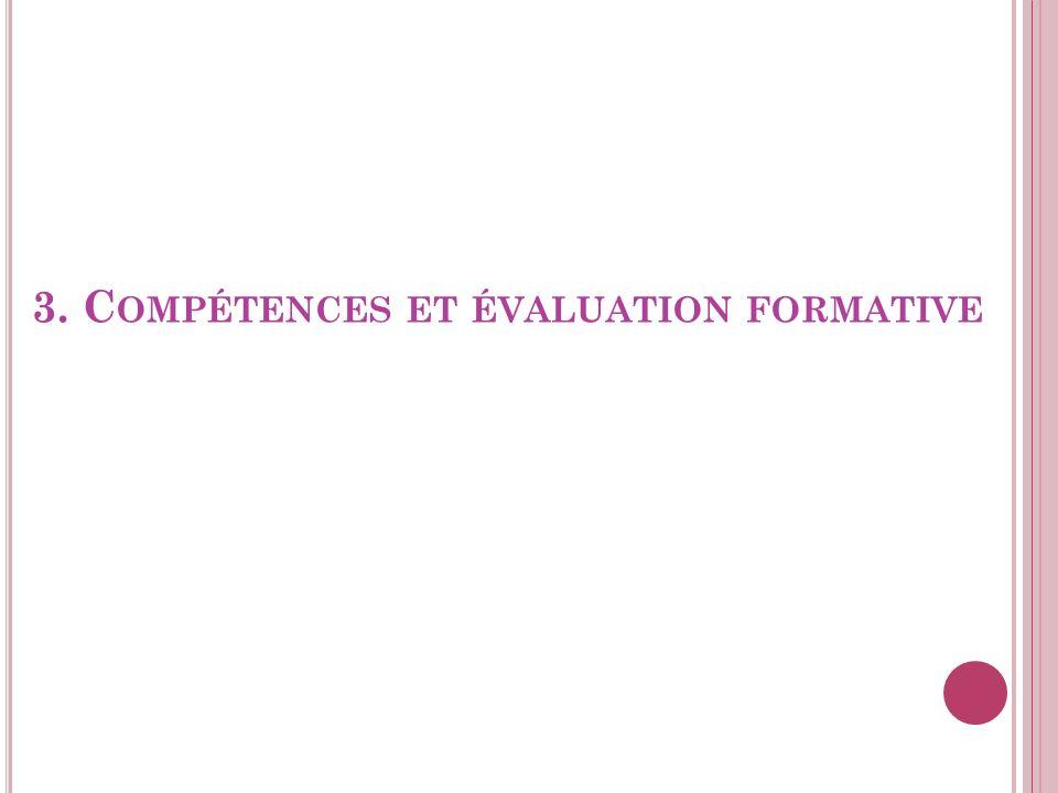3. Compétences et évaluation formative