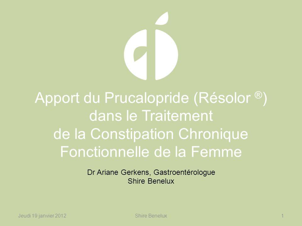 Dr Ariane Gerkens, Gastroentérologue Shire Benelux