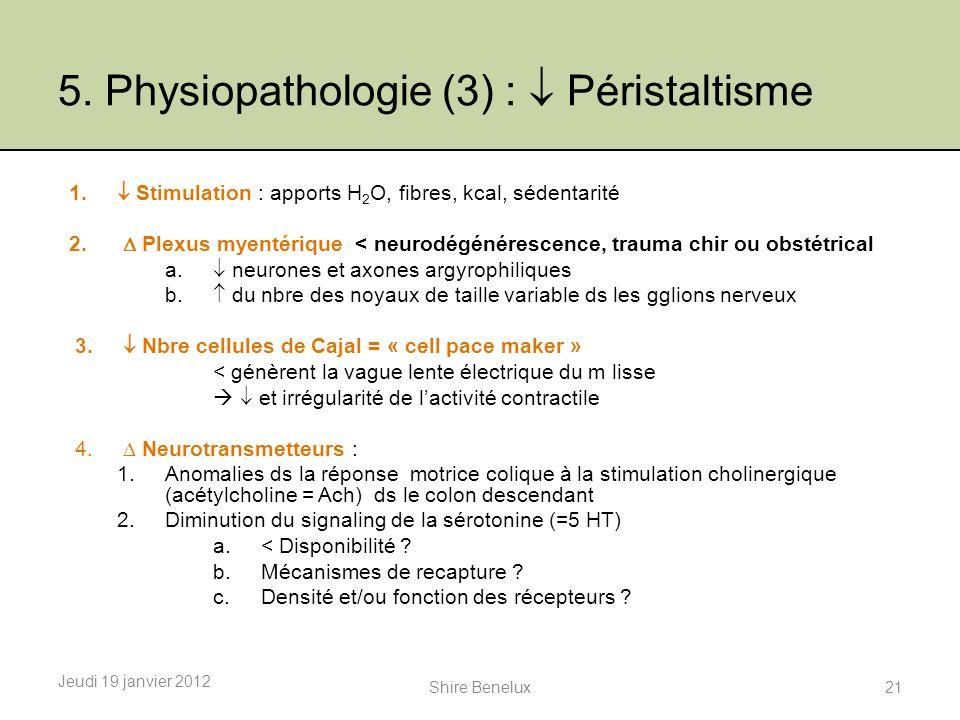 5. Physiopathologie (3) :  Péristaltisme