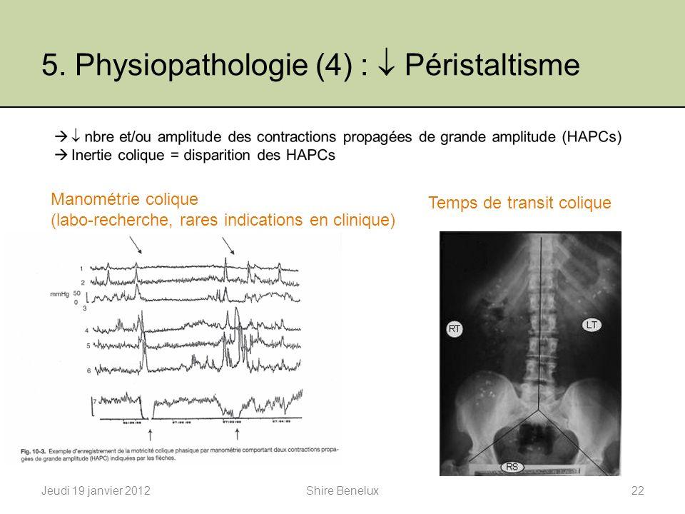 5. Physiopathologie (4) :  Péristaltisme