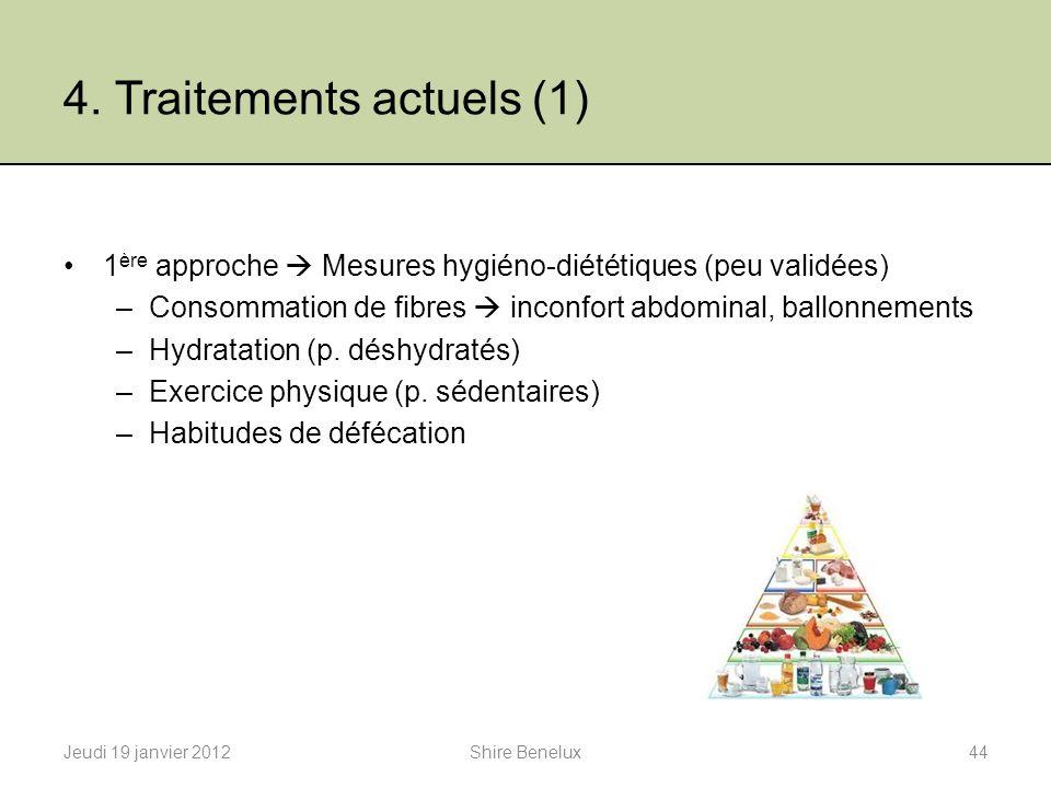 4. Traitements actuels (1)