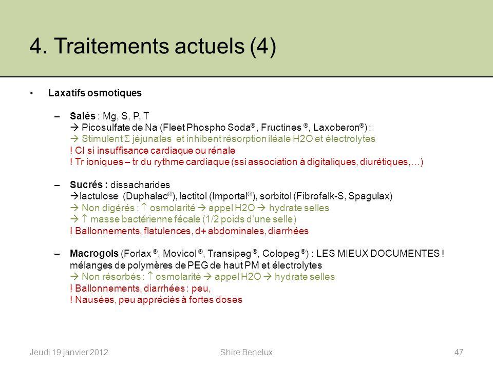 4. Traitements actuels (4)