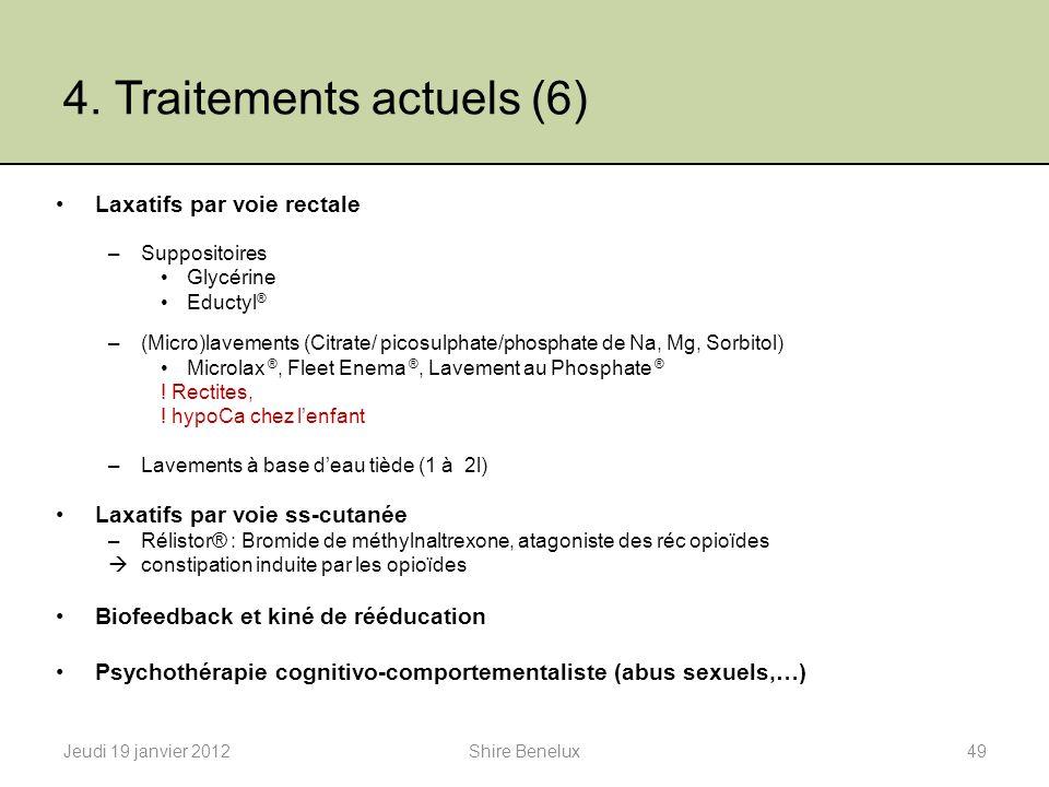 4. Traitements actuels (6)