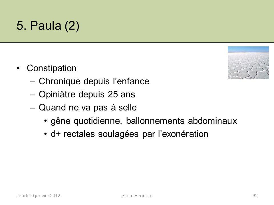 5. Paula (2) Constipation Chronique depuis l'enfance