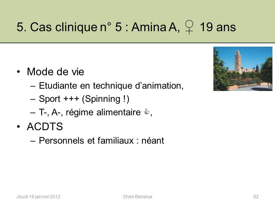 5. Cas clinique n° 5 : Amina A, ♀ 19 ans