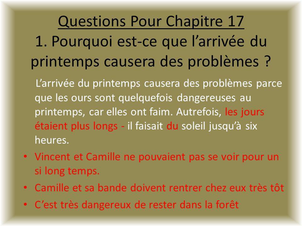 Questions Pour Chapitre 17 1