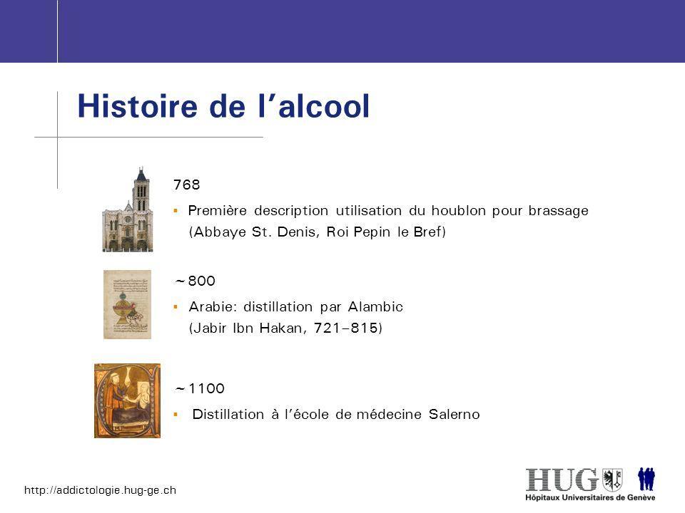 Histoire de l'alcool768. Première description utilisation du houblon pour brassage (Abbaye St. Denis, Roi Pepin le Bref)