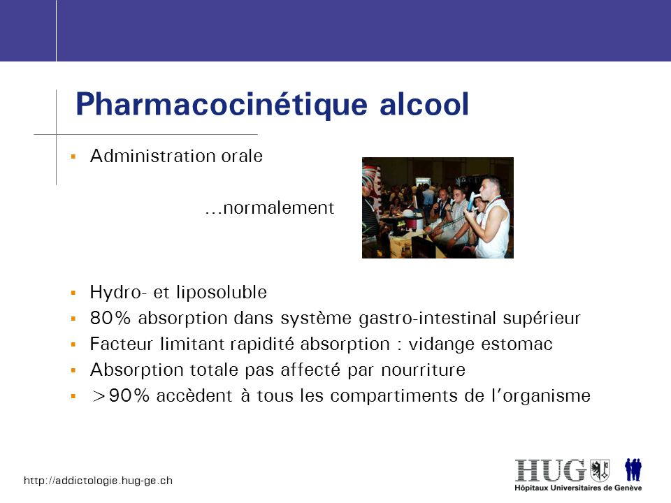 Pharmacocinétique alcool