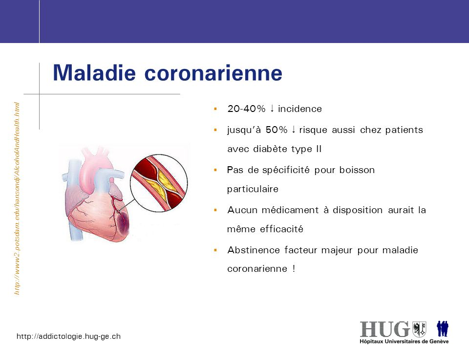 Maladie coronarienne 20-40%  incidence