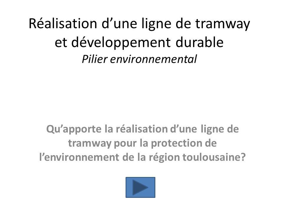Réalisation d'une ligne de tramway et développement durable Pilier environnemental
