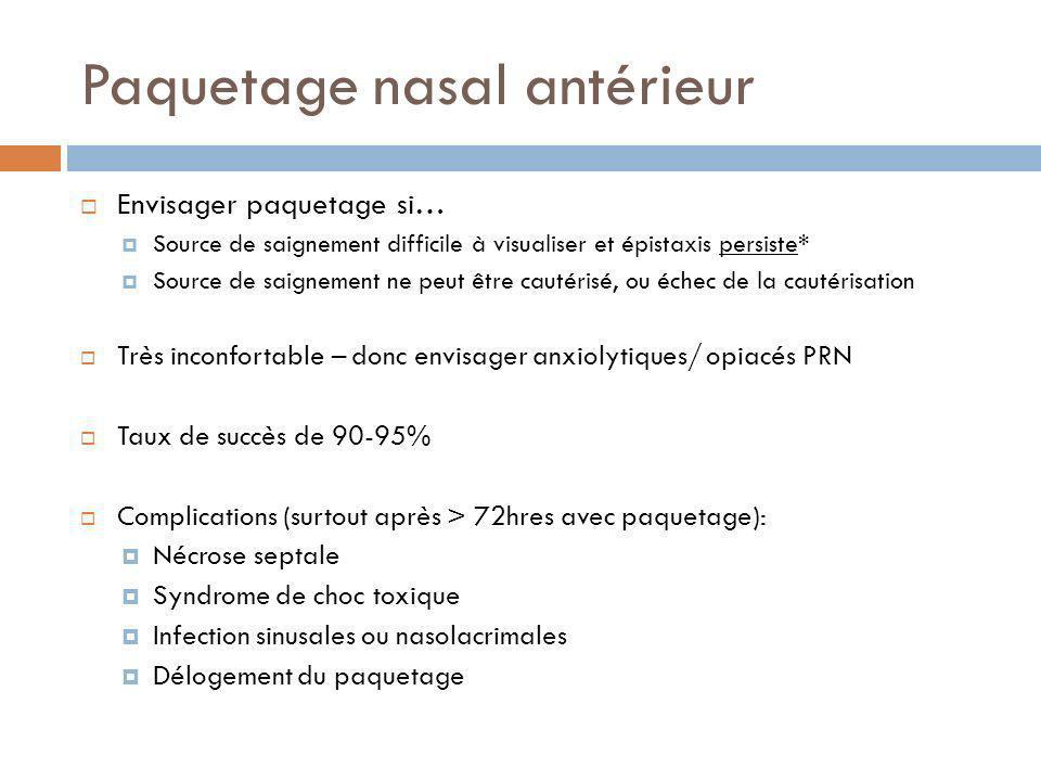 Paquetage nasal antérieur