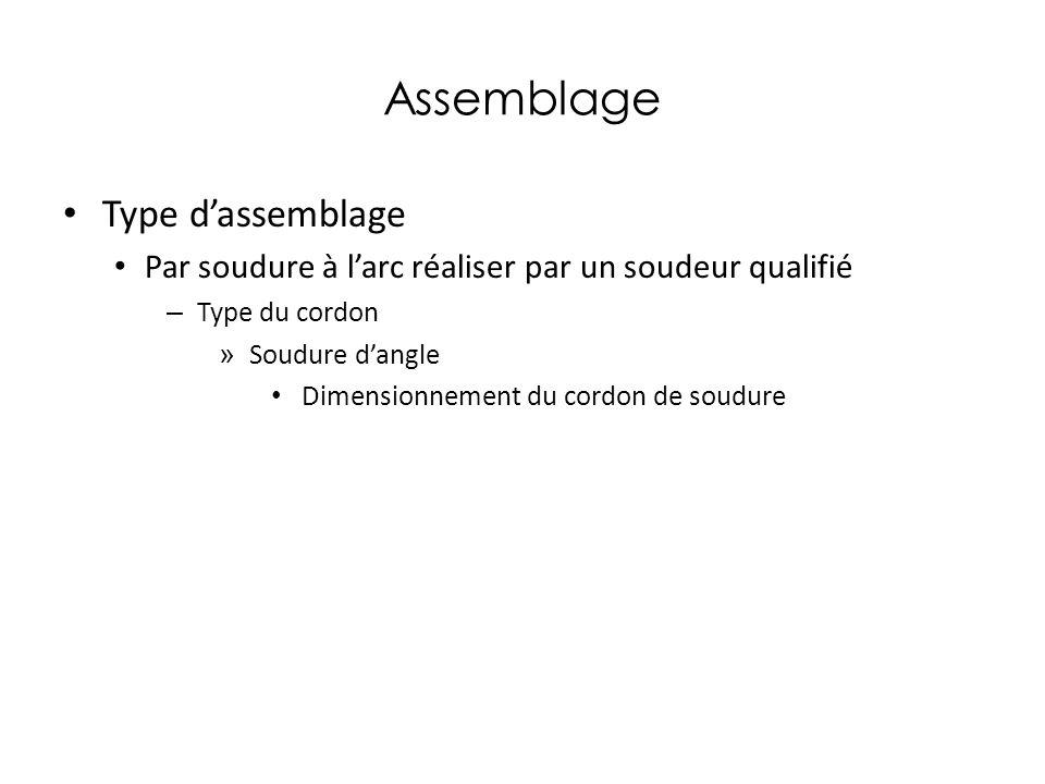 Assemblage Type d'assemblage