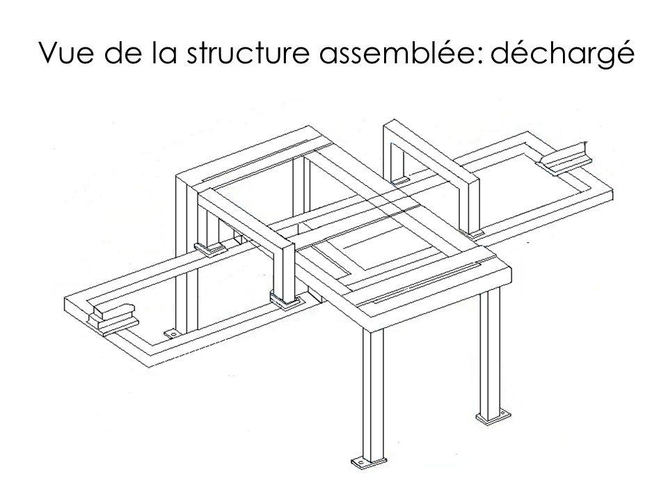 Vue de la structure assemblée: déchargé