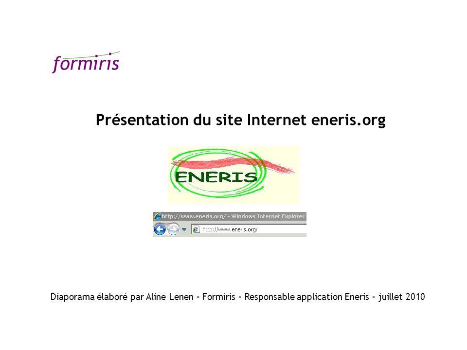 Présentation du site Internet eneris.org
