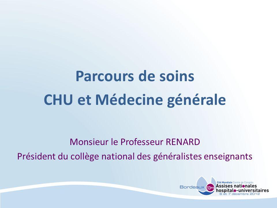 CHU et Médecine générale