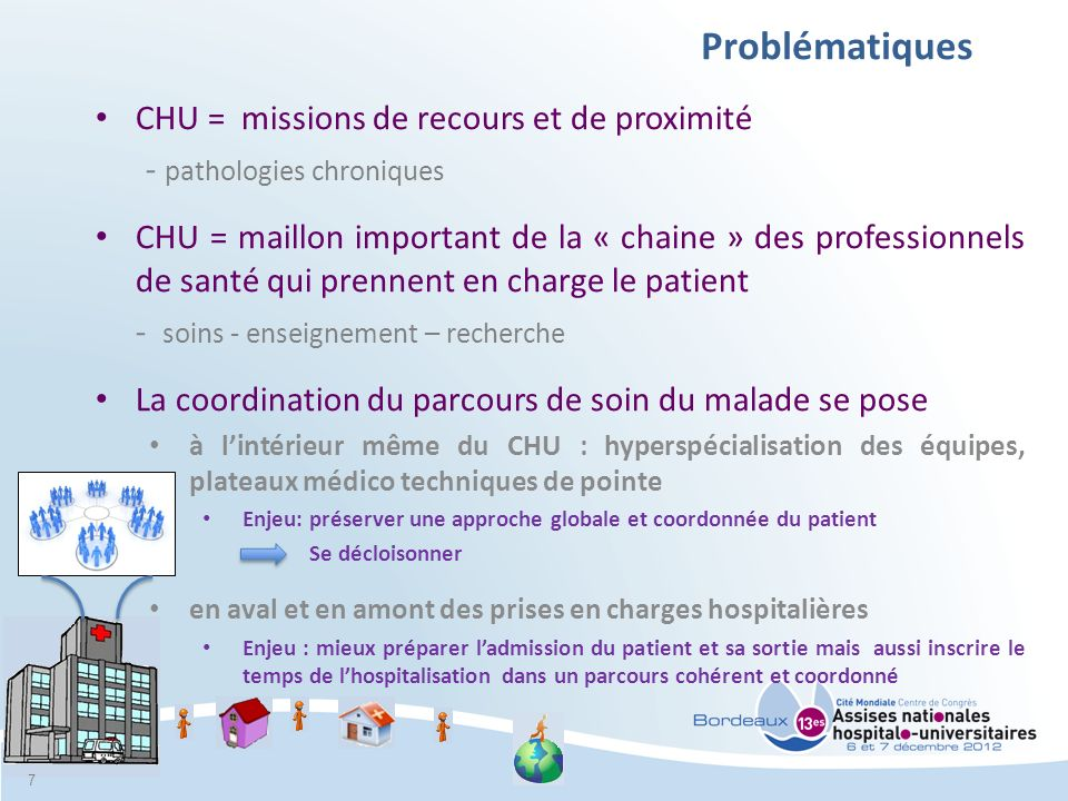 Problématiques CHU = missions de recours et de proximité