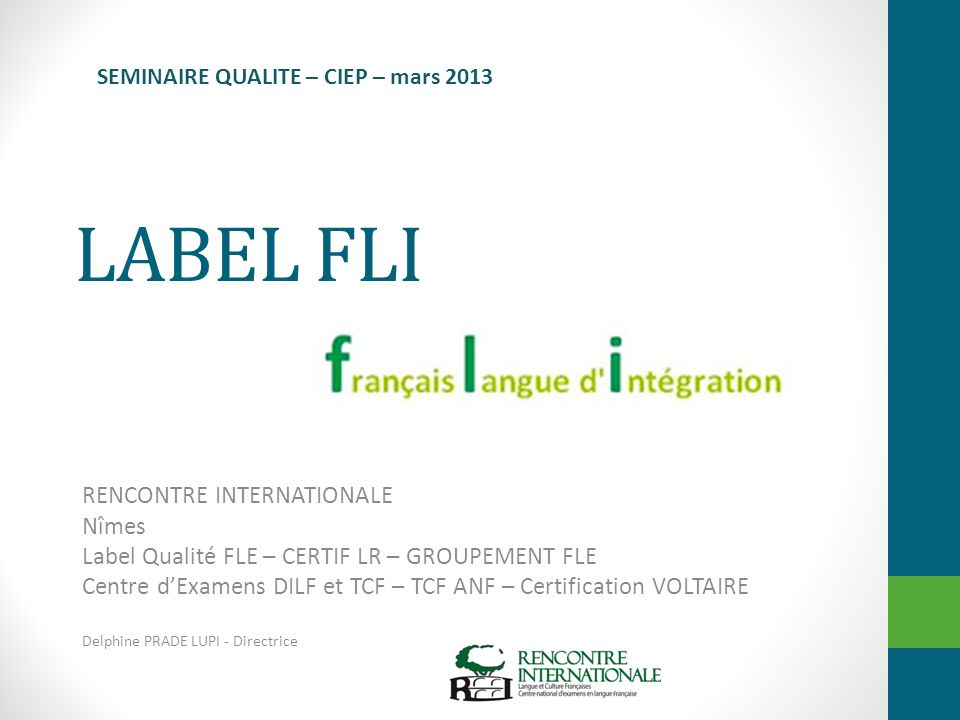 LABEL FLI RENCONTRE INTERNATIONALE Nîmes