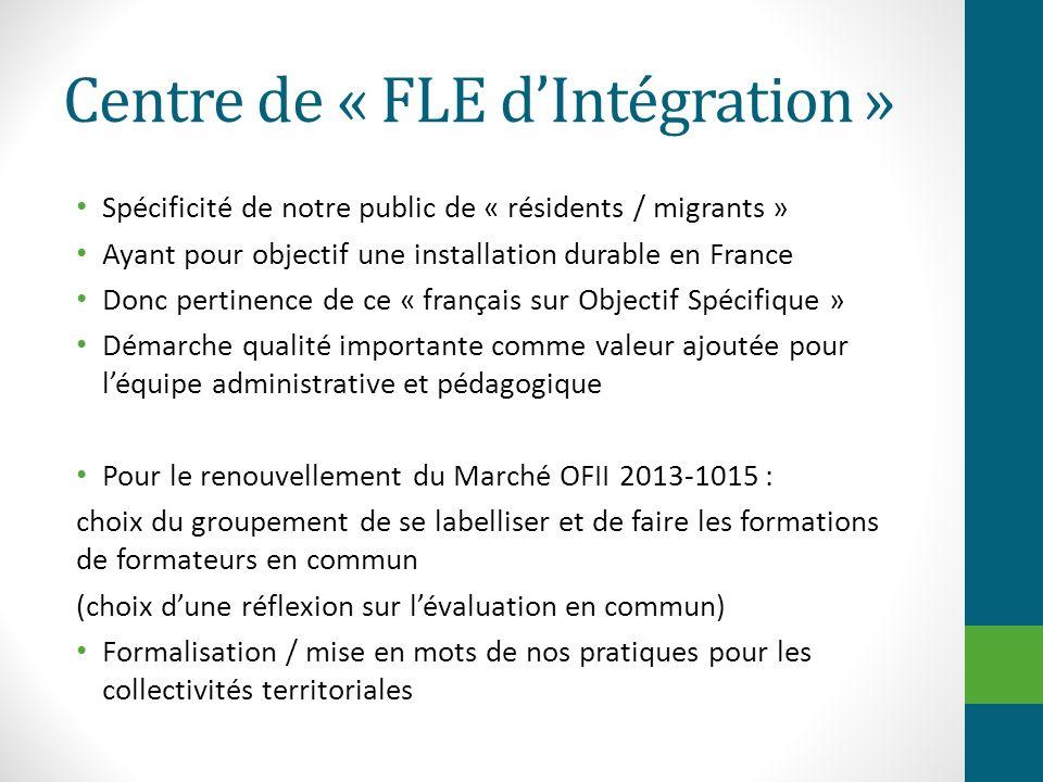 Centre de « FLE d'Intégration »