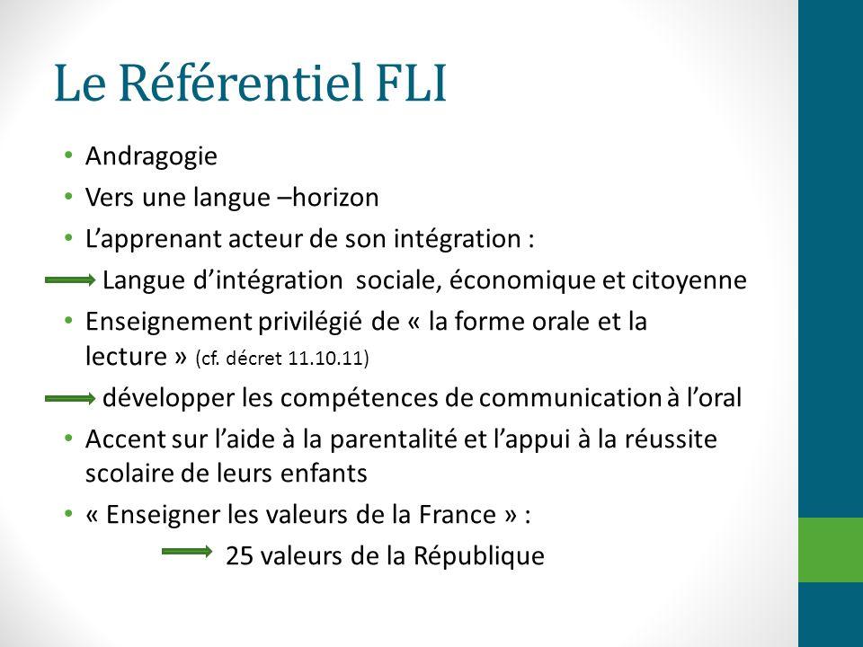 Le Référentiel FLI Andragogie Vers une langue –horizon