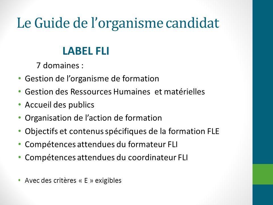 Le Guide de l'organisme candidat