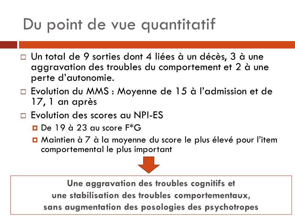 Du point de vue quantitatif