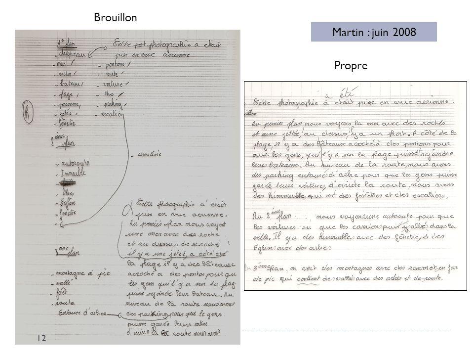 Brouillon Martin : juin 2008 Propre