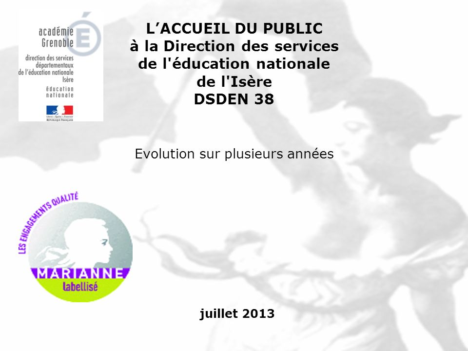 à la Direction des services de l éducation nationale