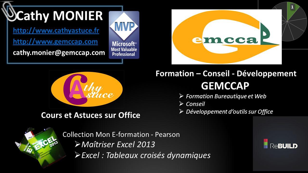 Cathy MONIER GEMCCAP Formation – Conseil - Développement