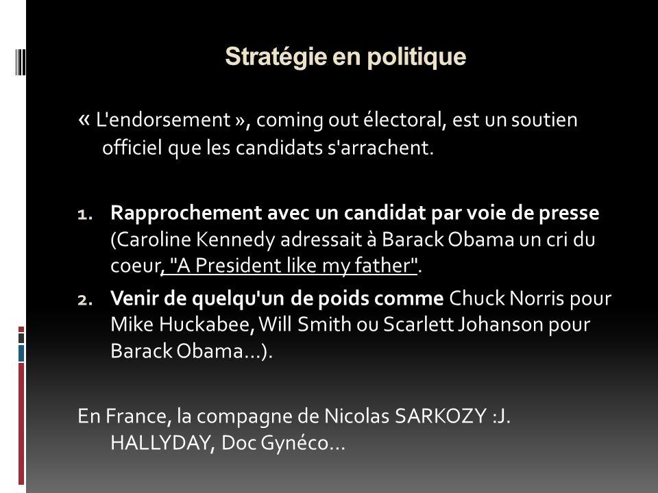 Stratégie en politique