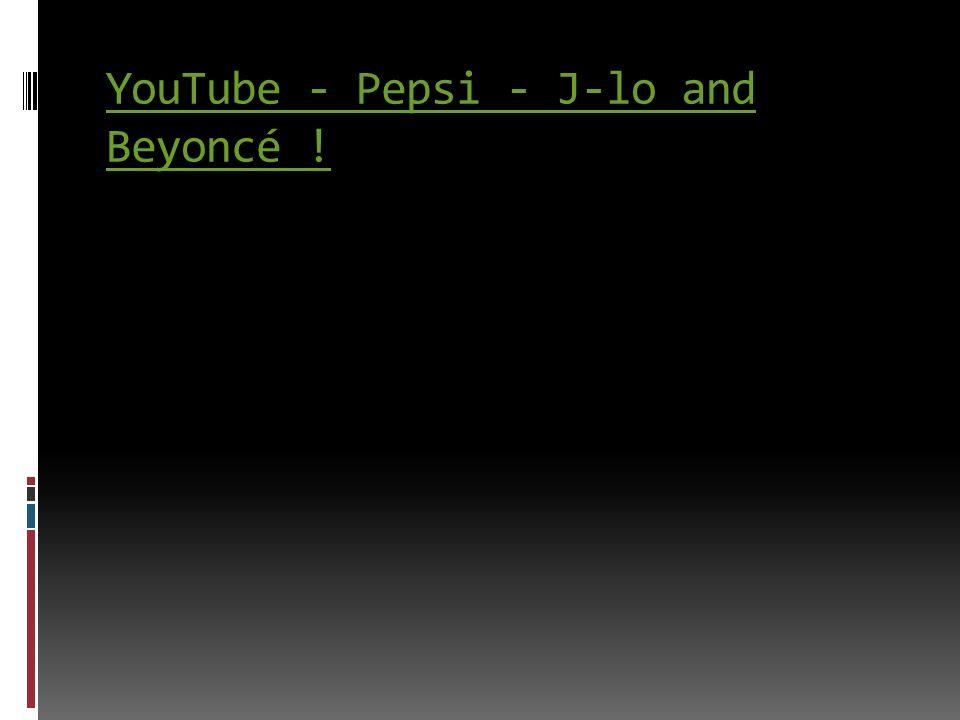 YouTube - Pepsi - J-lo and Beyoncé !