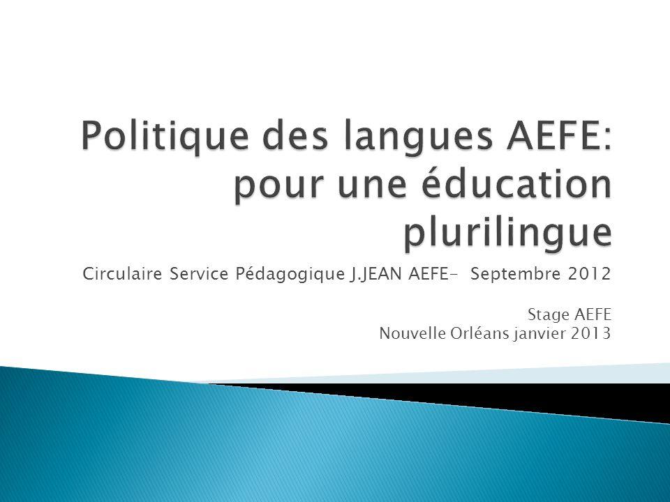 Politique des langues AEFE: pour une éducation plurilingue