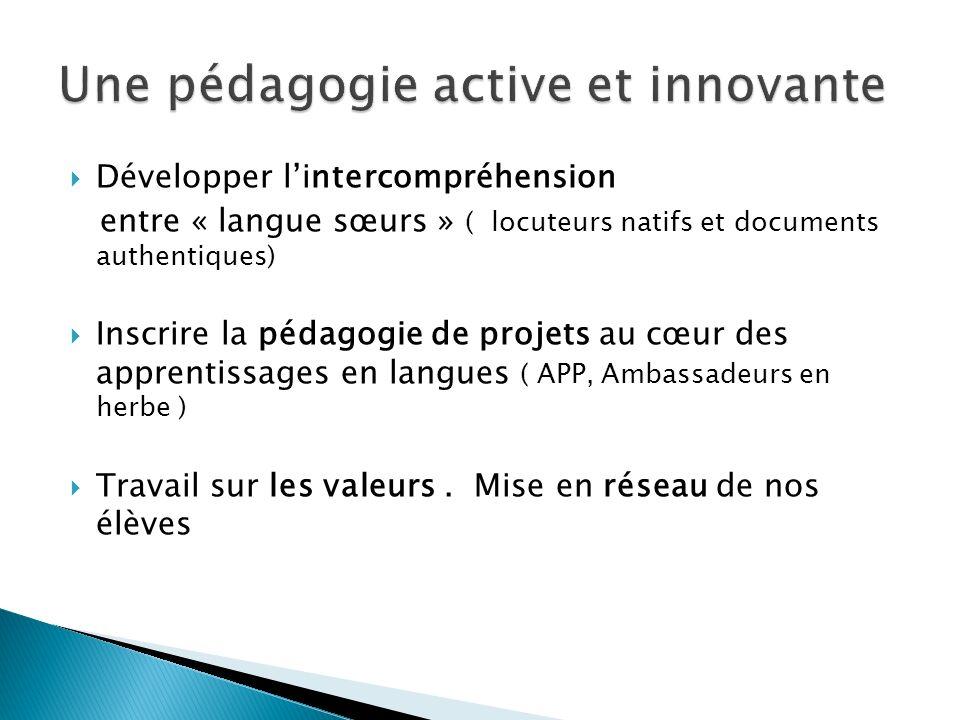 Une pédagogie active et innovante