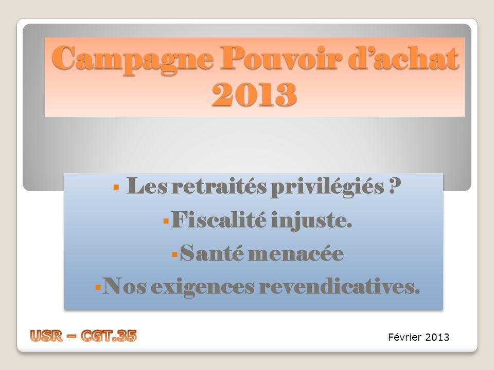 Campagne Pouvoir d'achat 2013