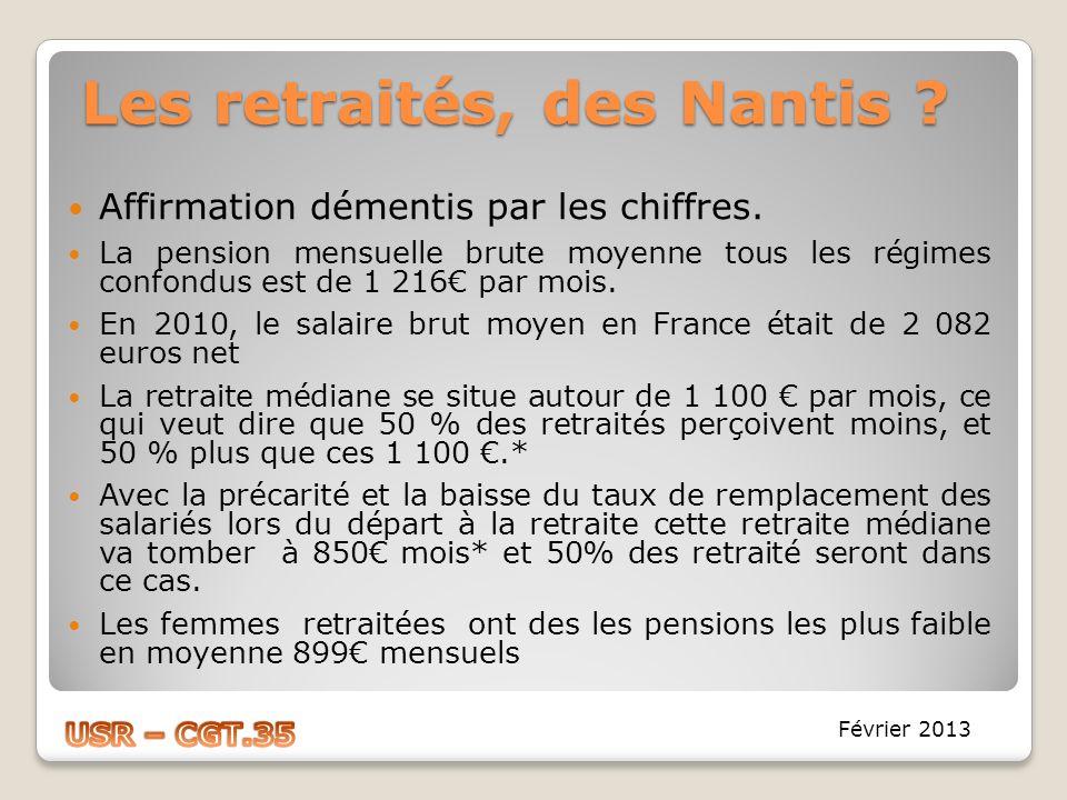 Les retraités, des Nantis