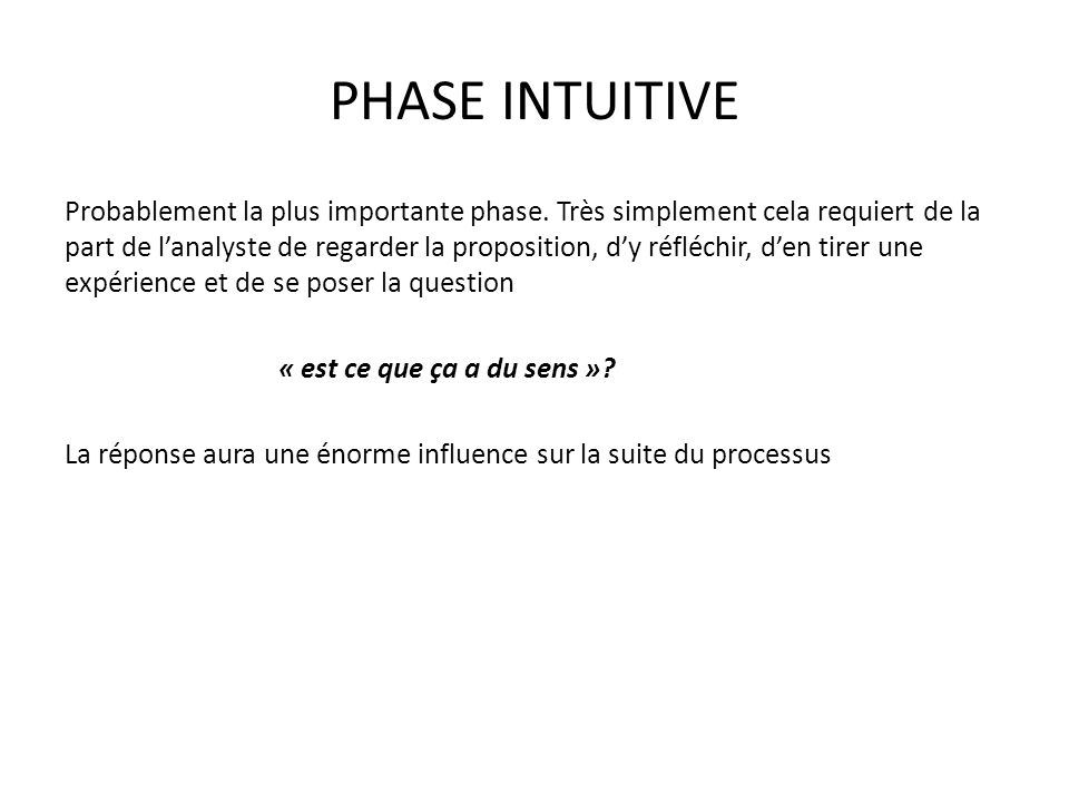 PHASE INTUITIVE
