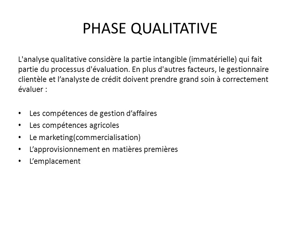 PHASE QUALITATIVE