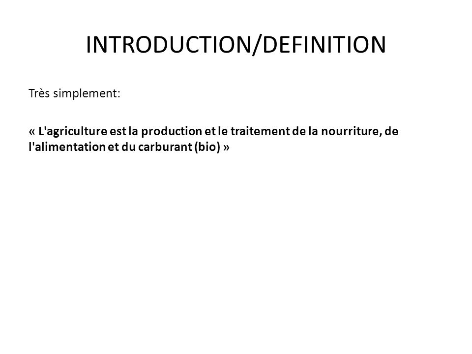INTRODUCTION/DEFINITION