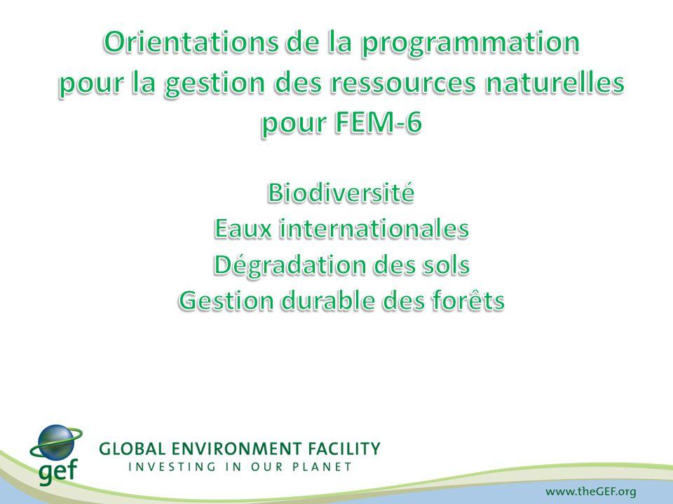Biodiversité Eaux internationales Gestion durable des forêts