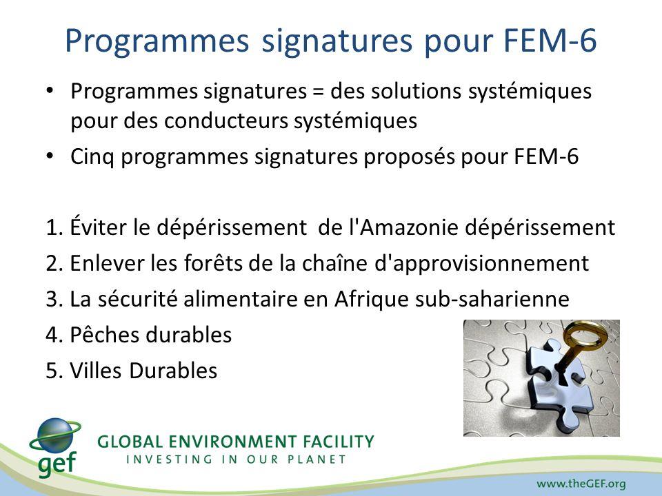 Programmes signatures pour FEM-6